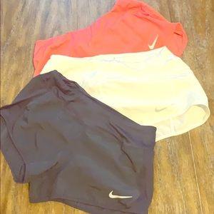 Nike pro dri fit navy blue running shorts small